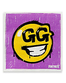 Loot Llama GG Smiley Face Beverage Napkins 16 Pack - Fortnite