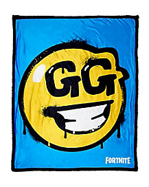 GG Smiley Face Sherpa Fleece Blanket - Fortnite