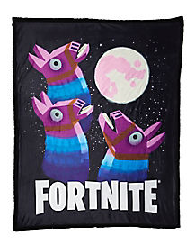 Loot Llama Moon Sherpa Fleece Blanket - Fortnite