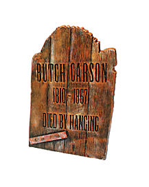 Wooden-Effect Butch Carson Tombstone