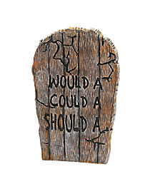 Wooden-Effect Would A Could A Should A Tombstone