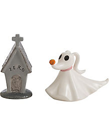 House and Zero Salt and Pepper Shakers - The Nightmare Before Christmas