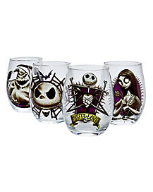 nightmare before christmas halloween decorations for sale stemless glass 4 pack the nightmare before christmas - Nightmare Before Christmas Halloween Decorations For Sale