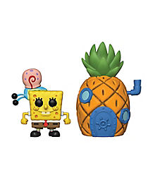 SpongeBob with Gary and Pineapple House Funko Pop Figure Pack - SpongeBob