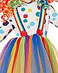 Kids Rainbow Clown Costume