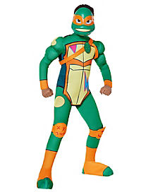 Kids Muscle Michelangelo Costume - Rise of the TMNT