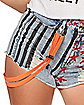 Harley Quinn Denim Shorts and Suspenders - Birds of Prey
