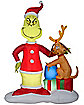 6 Ft. The Grinch and Max Presents Inflatable Decoration - Dr. Seuss