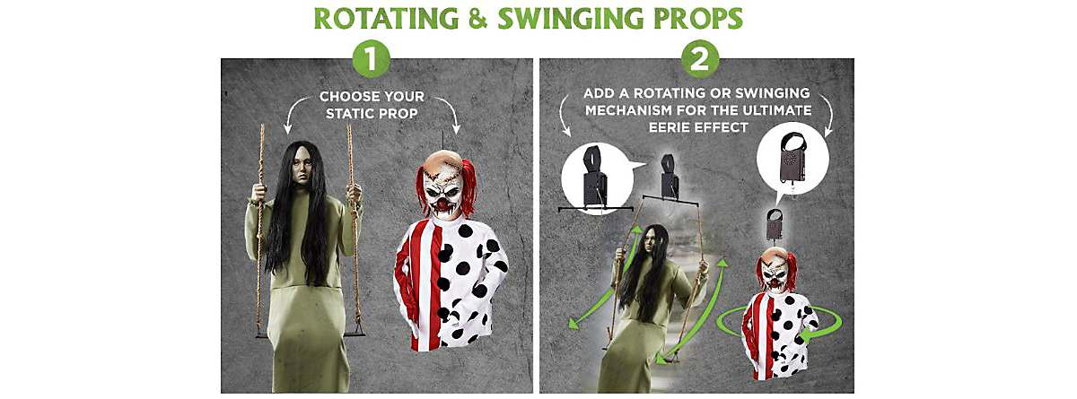 DIY Halloween decorations | Rotating and swinging props