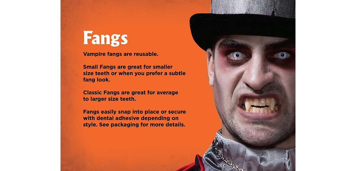 How to Apply Fake Fangs