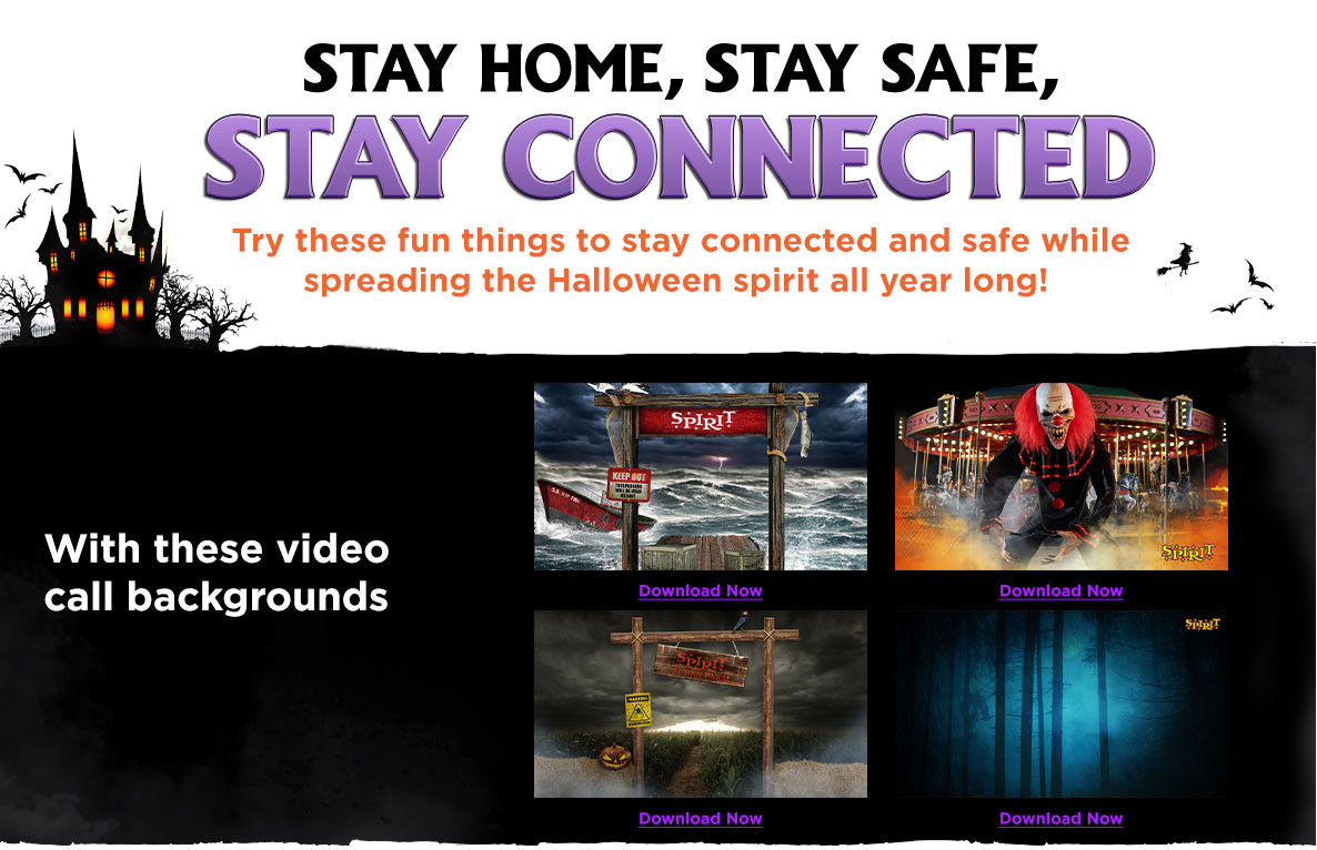 Stay Home Stay Safe Stay Connected with these video backgrounds