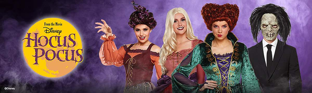 hocus pocus halloween costumes decorations sanderson sisters billy butcherson