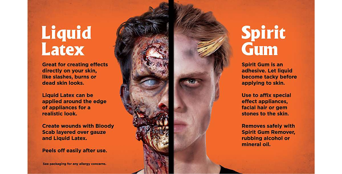 Difference Between Liquid Latex and Spirit Gum