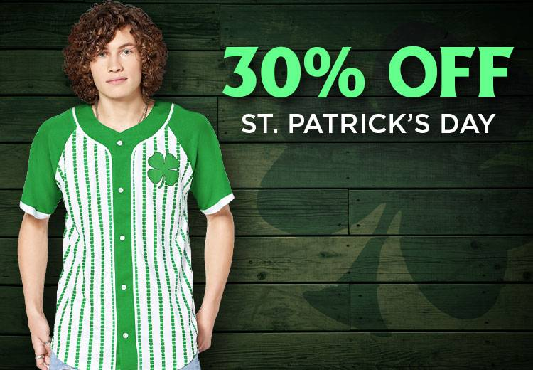 30% Off St. Patrick's Day