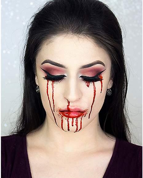 Fake Blood Makeup Tutorial at Spirit Halloween