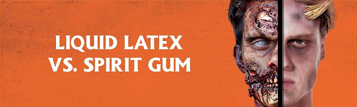 Liquid latex vs. spirit gum