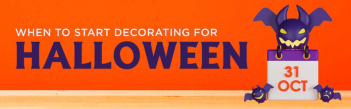 when to start decorating for Halloween